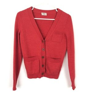 Wallace Madewell Red Cardigan Sz XS Sweater
